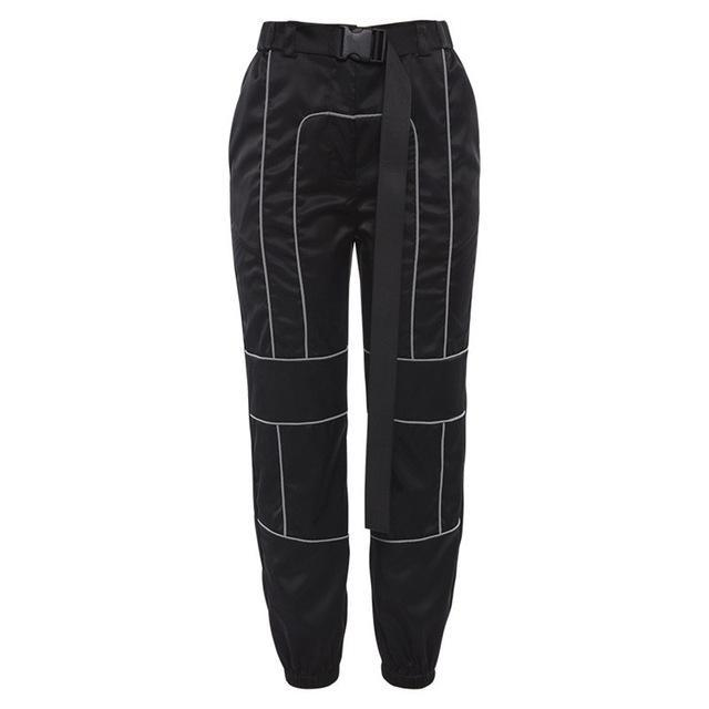Reflective Striped Pants W/Strap