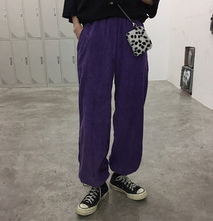 Wide Corduroy Sweatpants