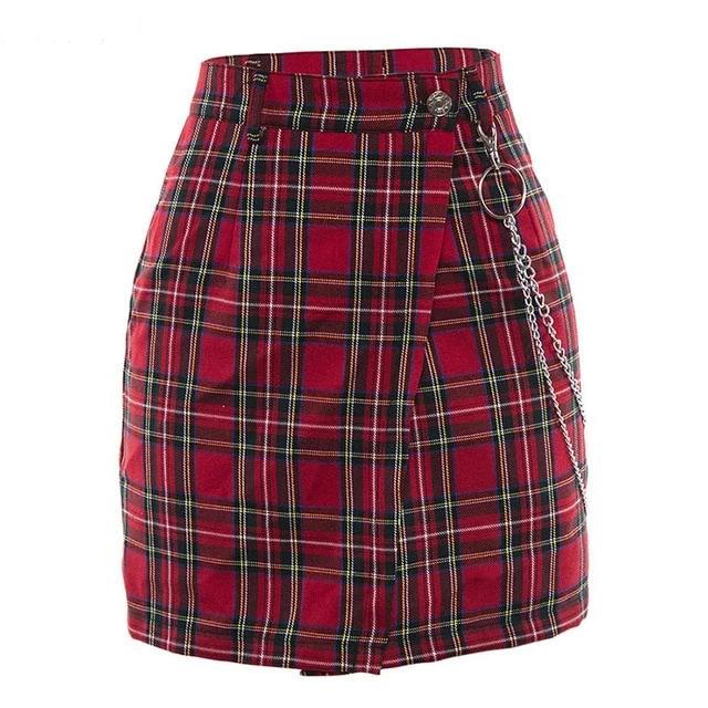 Willow Red Plaid Mini Skirt