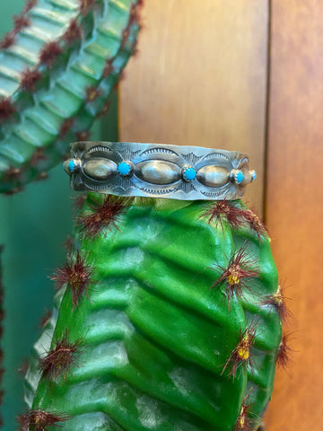 Turquoise and Sterling Silver Bangle