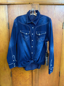 Indigo Blue Work Shirt