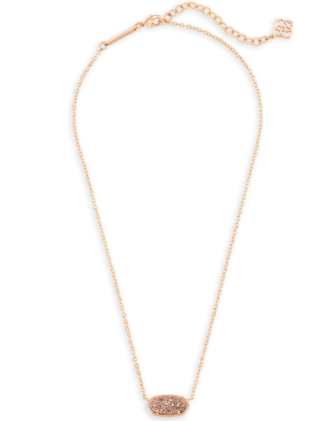 Elisa Rose Gold Drusy Necklace