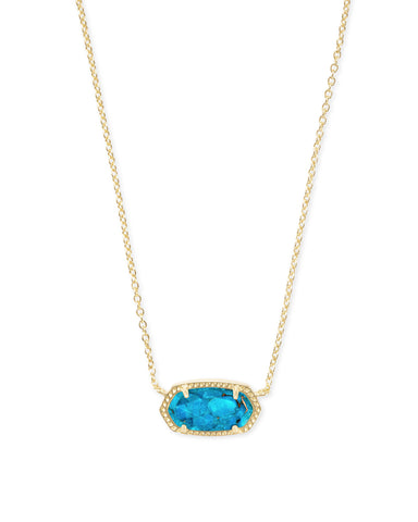 Elisa Gold Turquoise Necklace