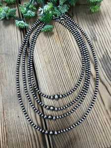 3 Bead Navajo Pearl Necklaces