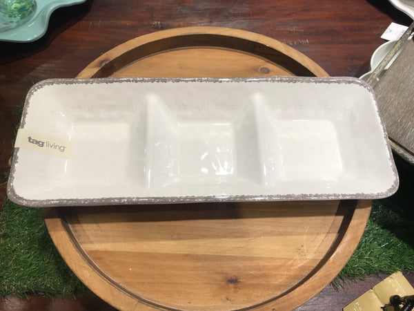 Tag Melamine 3 Section Tray