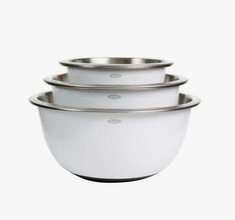 OXO 3 Pc Stainless Steel Mixing Bowl Set