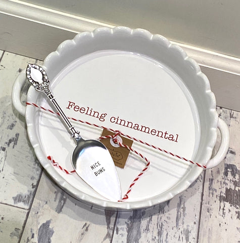 Mudpie Feeling Cinnamental Dish- 2pc Set
