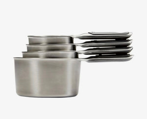 OXO 4 Piece Stainless Steel Measuring Cup Set
