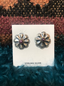 Round Concho Spiny Oyster Earring