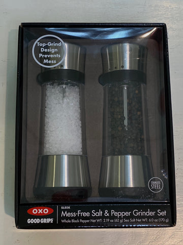 OXO Mess- Free Salt & Pepper Grinder Set