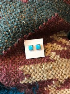 Square Turquoise Post