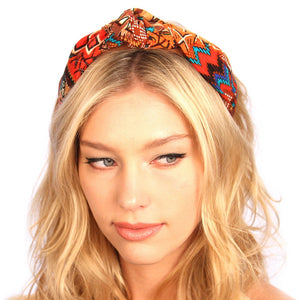 Aztec Suede Knot Headband Women - Accessories - Hair Accessories - Brisho.com