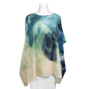Peacock Shirt Women - Accessories - Scarves - Brisho.com