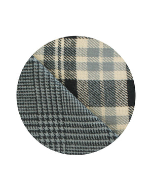 Reversible Black Watch Check Pattern Scarf
