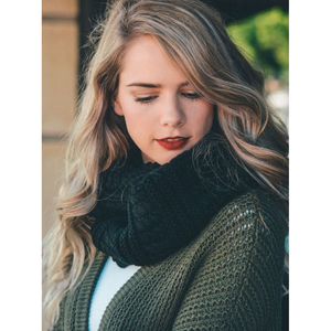 Black Ribbed Knit Infinity Scarf Women - Accessories - Scarves - Brisho.com