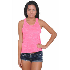 Women's Tank Top Slashed Back Burnout Women - Apparel - Shirts - Sleeveless - Brisho.com