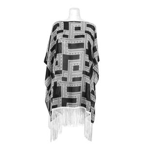 Black&White Poncho Women - Accessories - Scarves - Brisho.com