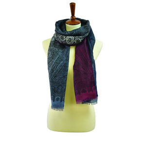 Transitional Paisley Print Scarf
