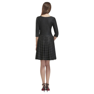 Black Lion Pattern Skater Dress Women - Apparel - Dresses - Day to Night - Brisho.com