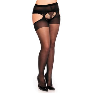 50121 Plaisir Ouvert20 Garter Tights Women - Apparel - Plus - Brisho.com