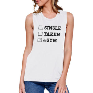 At The Gym Work Out Muscle Tee Women's Workout Tank Sleeveless Top