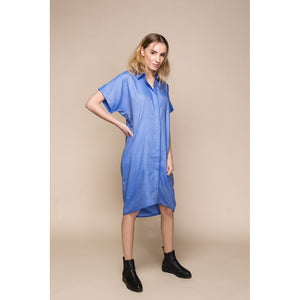 Blue Denim Shirt Dress Women - Apparel - Dresses - Casual - Brisho.com