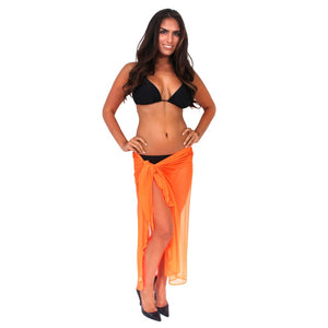 Women's Ultralight Long Mesh Sarong Cover Up Wrap Pareo Made in the USA Women - Apparel - Swimwear - Cover Ups - Brisho.com