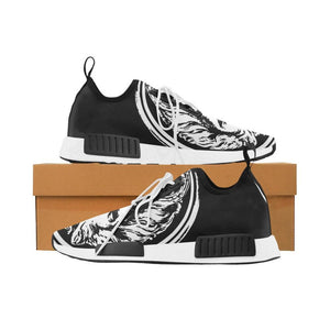 Womens black and White Lion Lace  up Trainers Women - Shoes - Sneakers - Brisho.com