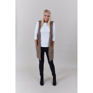 Big Pocket Cableknit Vest