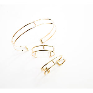 Curve  brass cuff bracelets assorted Women - Jewelry - Cuffs - Brisho.com