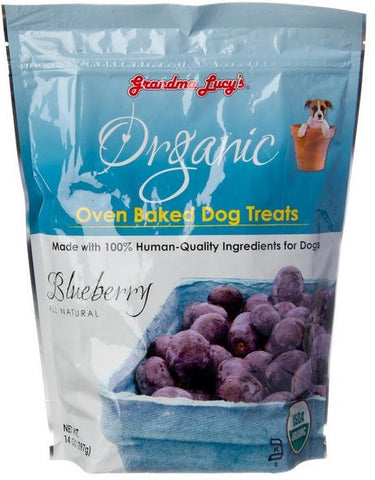 Grandma Lucy's Organic Oven Baked Blueberry Flavor Dog Treats