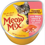 Meow Mix Tender Favorites Real Salmon and Crab Meat Canned Cat Food