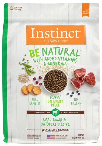 Instinct Be Natural Lamb & Oatmeal Recipe Dry Dog Food