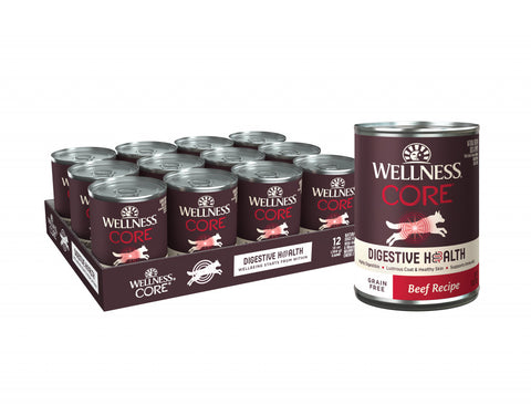 Wellness Core Digestive Health Grain Free Beef Recipe Canned Dog Food