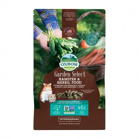 Oxbow Animal Health Garden Select Hamster & Gerbil Food Garden Inspired Recipe for Hamsters & Gerbils