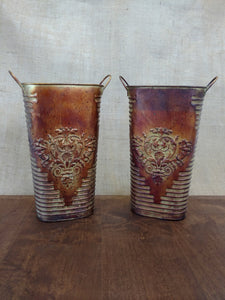 Rustic Copper Containers