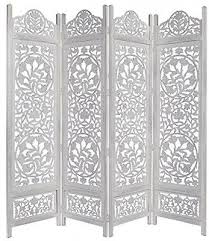 Intricately Carved White Screen