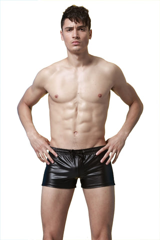 SXYFKR Faux Leather Shorts Black