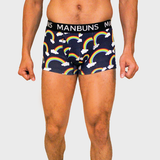 MANBUNS Somewhere Over The Rainbows Boxer Trunk