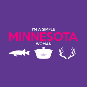 SIMPLE WOMAN FISHING, HOT DISH, AND ANTLERS