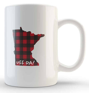 Uff Da Buffalo Plaid Coffee Mug