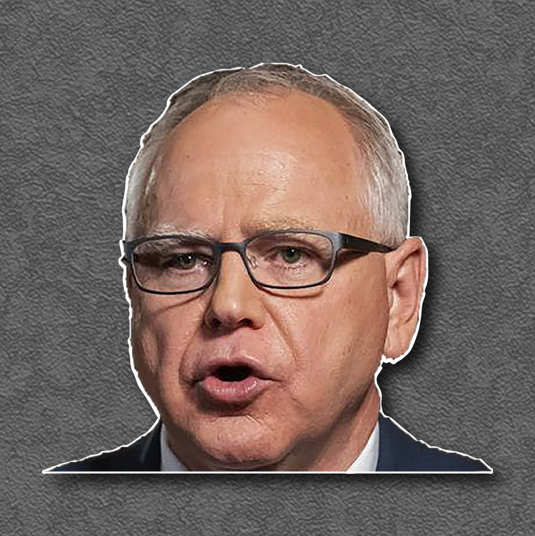 Peeping Governor Tim Walz Window Cling
