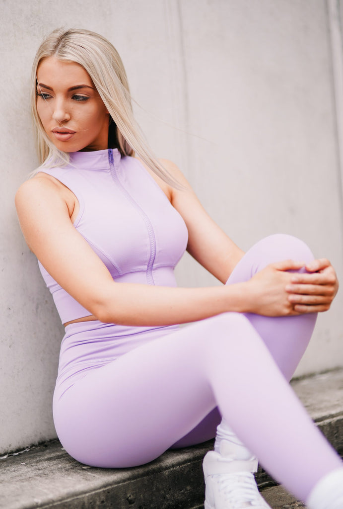 HALO Full Length Tights Lilac - MISSFITCO
