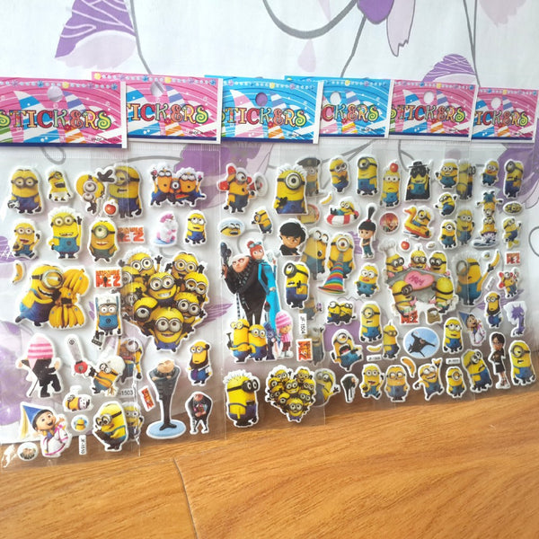Sheets Of minion Stickers
