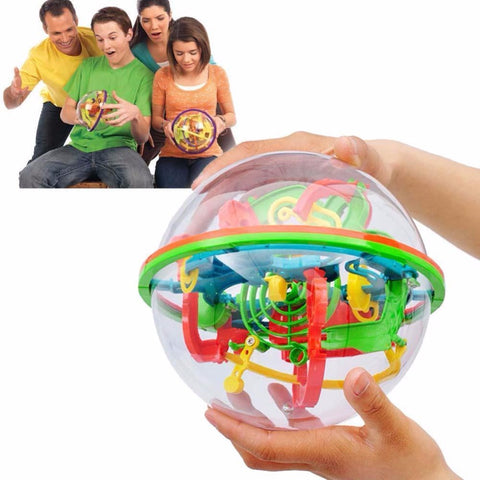100 Steps 3D Labyrinth Globe Puzzle