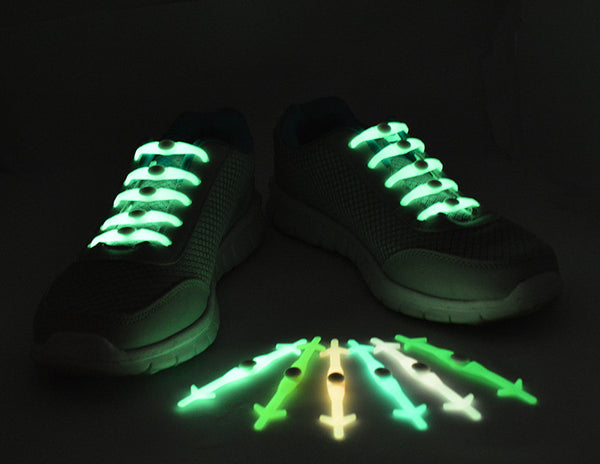 Bright Nights Glow In The Dark No Tie Shoelaces