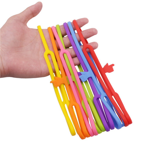 Seven Silicone Finger Bookmark