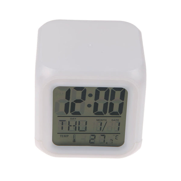 Multi-function LED Glowing Cube Clock