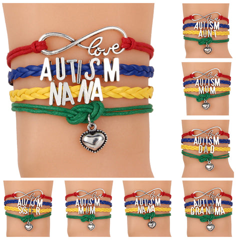Family Love Autism Awareness Bracelet