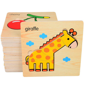 Set of Eight Wooden Puzzles